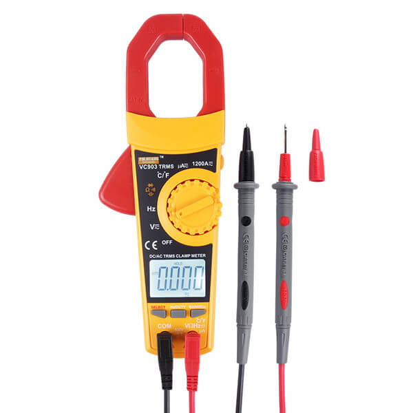 VC-903 hand held digital clamp meter auto range MAX AC and DC current up to 1200A with true RMS and self calibration function In Pakistan - Electronics Hub